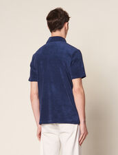 Terrycloth Polo Shirt : Sélection Last Chance color Navy Blue
