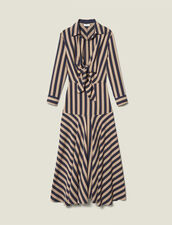 Long dress with striped design : FBlackFriday-FR-FSelection-50 color Beige / Blue