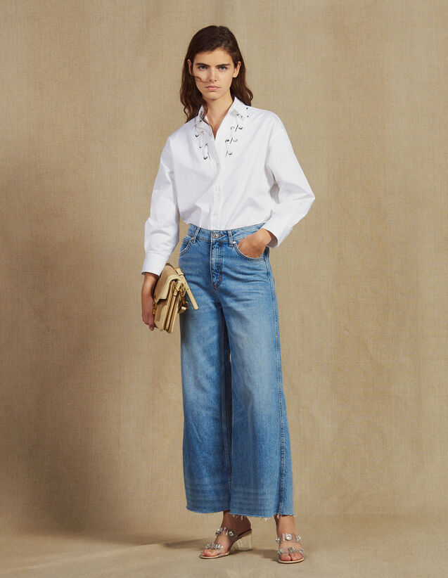 Wide Leg Jeans : LastChance-FR-FSelection color Blue Vintage - Denim