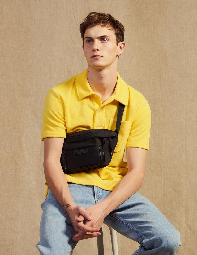 Terrycloth Polo Shirt : T-shirts & Polo shirts color Navy Blue