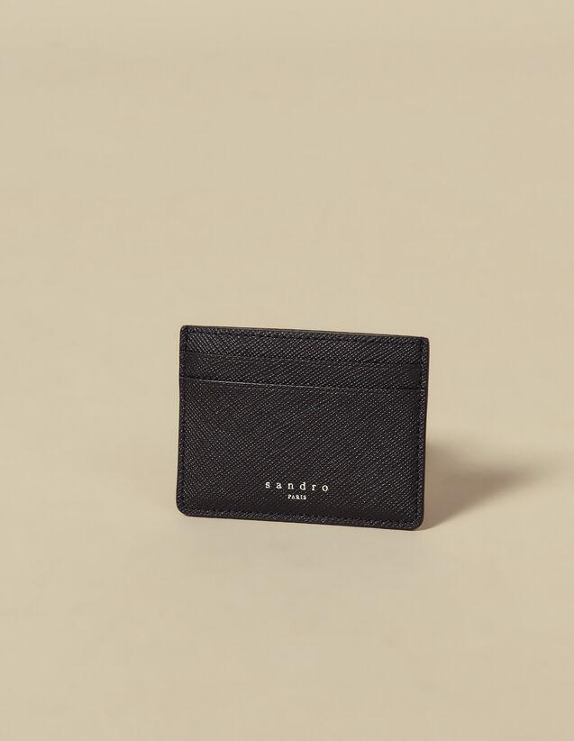 Leather card holder : Card Holders color Navy Blue