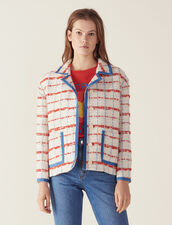 Tweed Blazer Jacket : Blazers & Jackets color Multi-Color