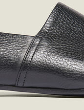 Grained Leather Slippers : Sélection Last Chance color Black