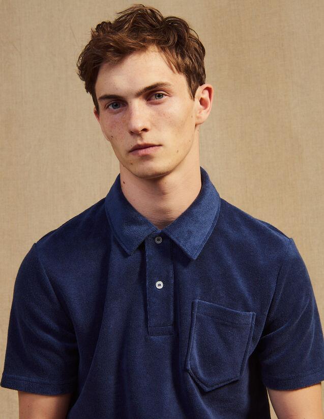 Terrycloth Polo Shirt : Sélection Last Chance color Navy Blue