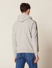 Fleece Hoodie Sweatshirt : SOLDES-CH-HSelection-PAP&ACCESS-2DEM color Mocked Grey
