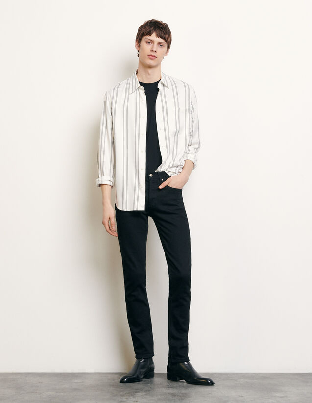 Striped flowing shirt : Shirts color Blue