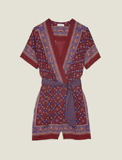 Printed Playsuit : null color Bordeaux