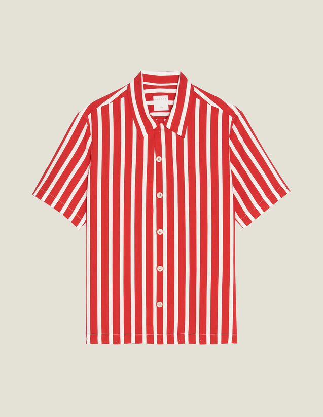 Shirt With Contrasting Stripes : LastChance-RE-HSelection-Pap&Access color Red
