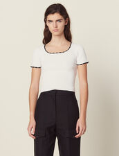 Matching Cropped Knit Top : Tops & Shirts color white