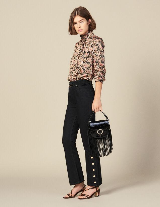 Flared jeans with slits : Copy of VP-FR-FSelection-Pantalons&Jeans color Black