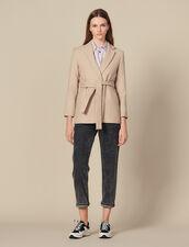 Long Wool Jacket With Belt : Copy of VP-FR-FSelection-Blousons&Manteaux color Beige