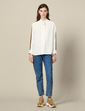 Floaty Top With Braid Trim : Tops & Shirts color Ecru