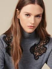High-Neck Sweater : Sweaters & Cardigans color Grey