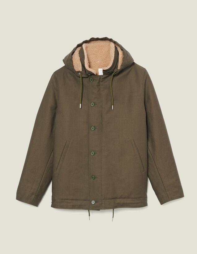 Deck Jacket Parka : Trench coats & Coats color Olive Green