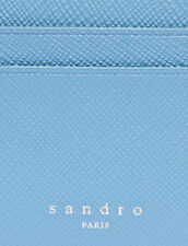 Leather Card Holder : Summer Collection color Bluish Grey