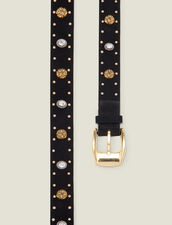 Belt trimmed with rivets and rhinestones : All Winter collection color Black