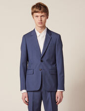 Wool Suit Jacket : Suits & Tuxedos color Bluish Grey