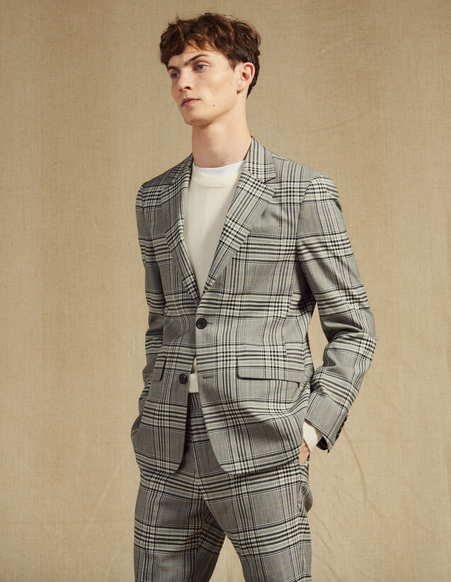 Classic Suit Jacket : Suits & Tuxedos color Grey