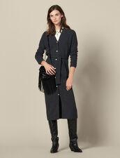Ribbed knit dress : LastChance-ES-F50 color Grey
