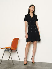Knitted tailored dress : Dresses color Black