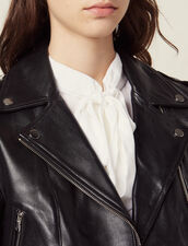 Short leather jacket : Blazers & Jackets color Black