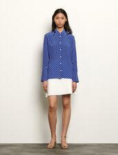 Printed silk shirt : Tops & Shirts color Blue