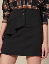 Short Skirt With Asymmetric Ruffle : FBlackFriday-FR-FSelection-40 color Black