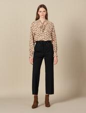 Trousers with studded belt : Copy of VP-FR-FSelection-Pantalons&Jeans color Black