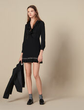 Short Dress With Pleats And Studs : Dresses color Black