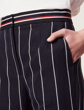 Trousers With Contrasting Stripes : null color Navy Blue