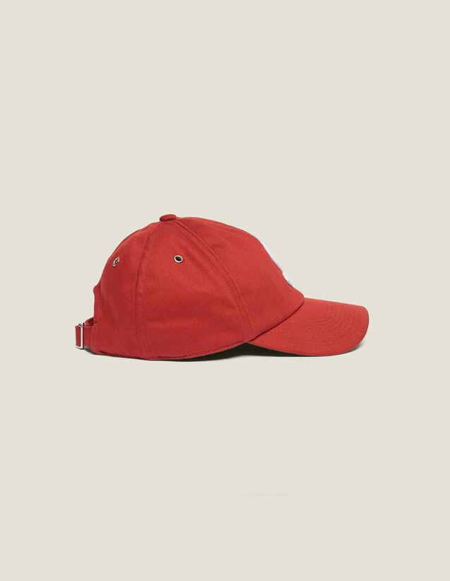 Cap With S Patch : Caps color Red