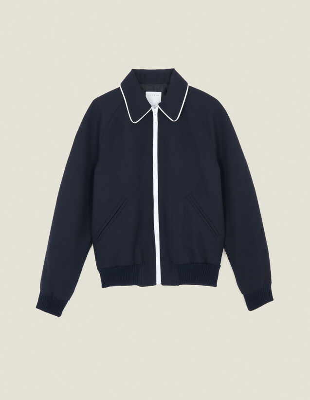 Teddy-Style Jacket : Blazers & Jackets color Navy Blue