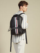 Saffiano Leather Backpack : Summer suitcase color Black