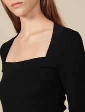 Square neck sweater : FBlackFriday-FR-FSelection-30 color Black