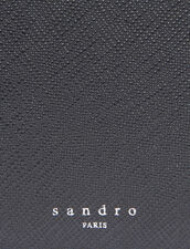Saffiano Leather Wallet With Flap : Card Holders color Black