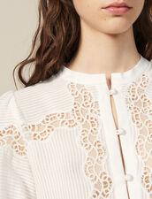Lace-Blend Blouse : Tops & Shirts color Ecru