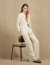 Tailored Trousers : Pants color Ecru