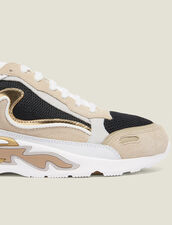 Flame Trainers : All Shoes color Gold