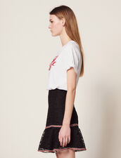 Short Skirt With Ruffles : null color Black