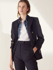 Double-Breasted Jacket : Blazers & Jackets color Navy Blue