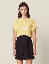 Short Wraparound Skirt With Ruffle : Skirts & Shorts color Black