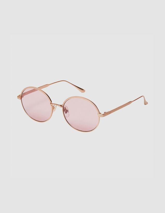 Round sunglasses : All Winter collection color Doré/Noir