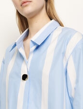 Oversized striped shirt : Tops & Shirts color Blue sky