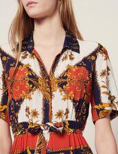 Shirt Dress With Scarf Print : Dresses color Multi-Color