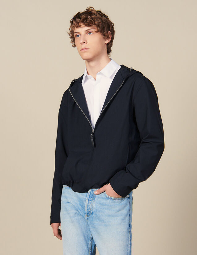 Hooded Jacket : Winter Collection color Charcoal Grey