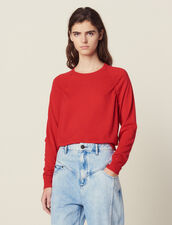 Long-Sleeved Wool Sweater : LastChance-FR-FSelection color Red