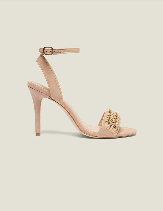 Sandals With Chain Woven Details : All Shoes color Nude
