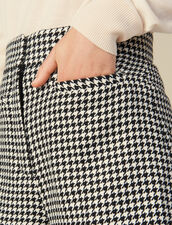 Matching houndstooth check shorts : LastChance-ES-F40 color Black