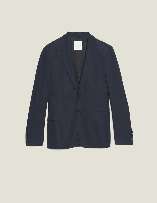 Cotton Suit Jacket : Sélection Last Chance color Ink