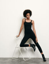 Knitted jumpsuit : Jumpsuits color Black